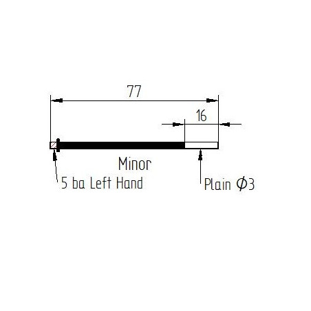 MINOR or STYLO type rod